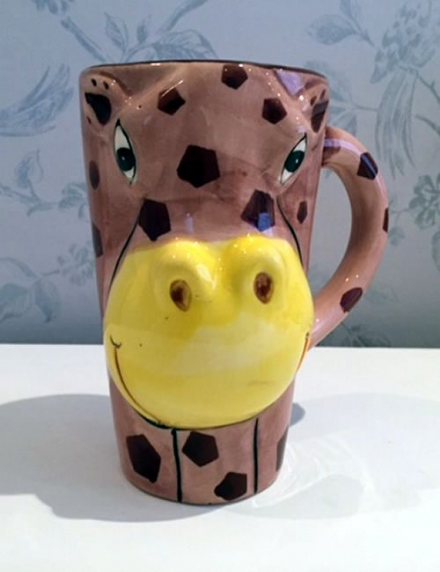 Hot Chocolate Tall Ceramic Mug - Hippo